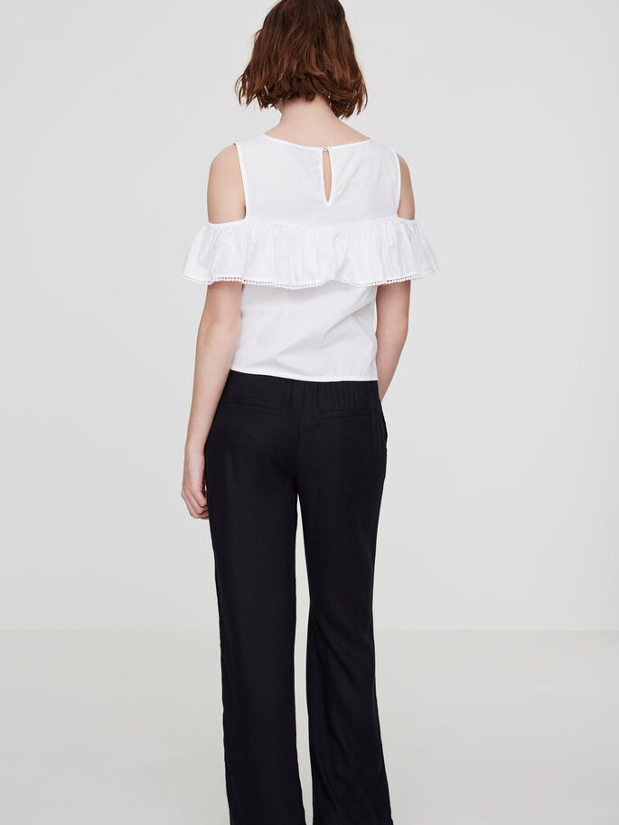 COLD-SHOULDER- OBERTEIL MIT KURZEN ÄRMELN, Bright White, large