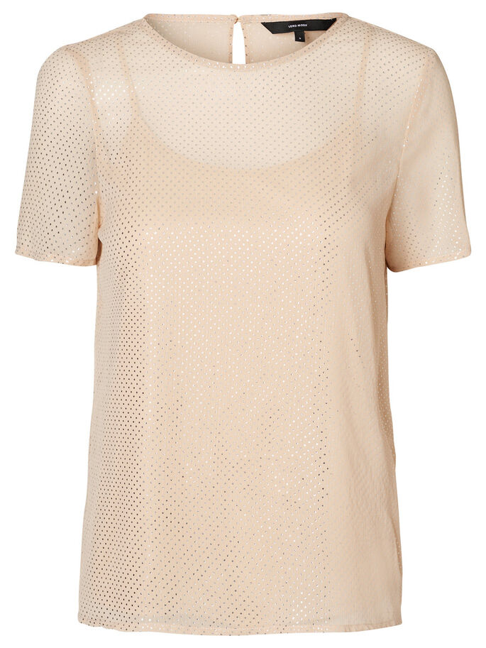 DOTTED SHORT SLEEVED TOP, CurdsWhey, large