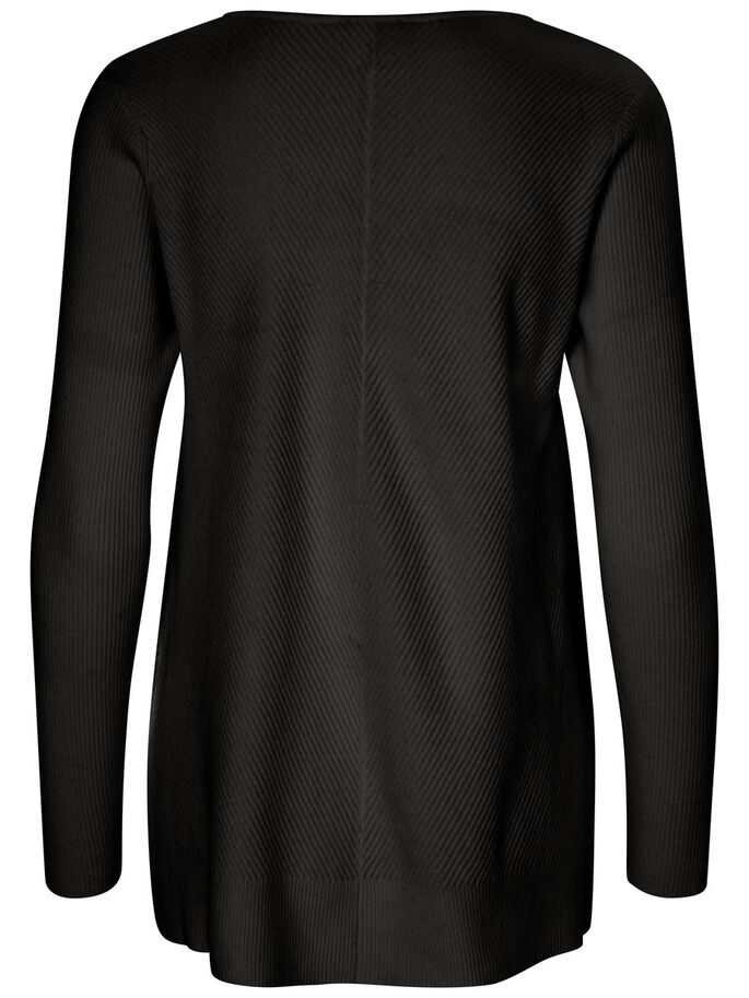 CASUAL STRIKKET PULLOVER, Black Beauty, large
