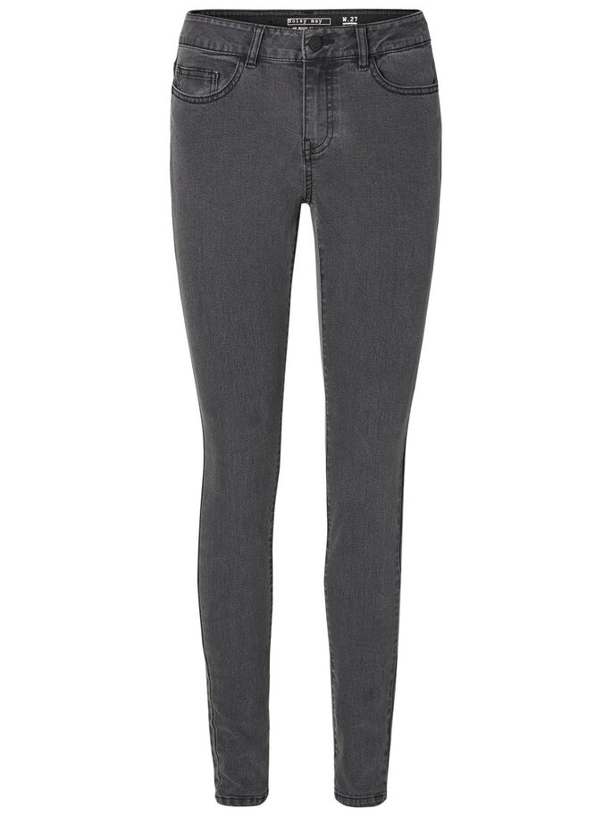 LUCY NW SKINNY FIT JEANS, Medium Grey Denim, large