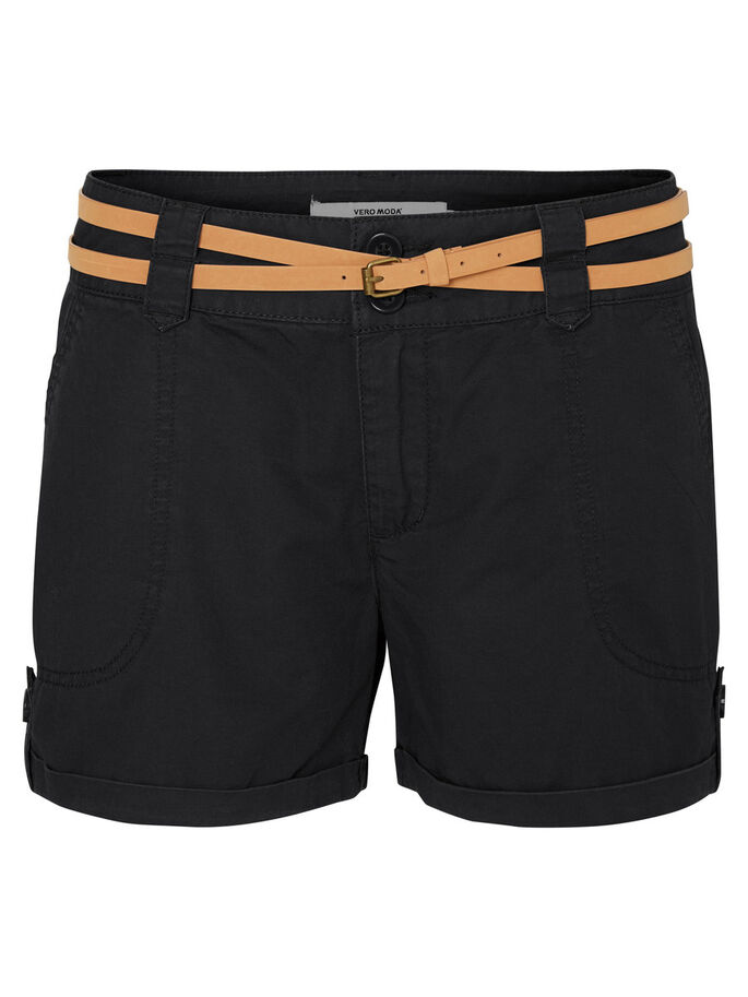 CARGO SHORTS, Black, large