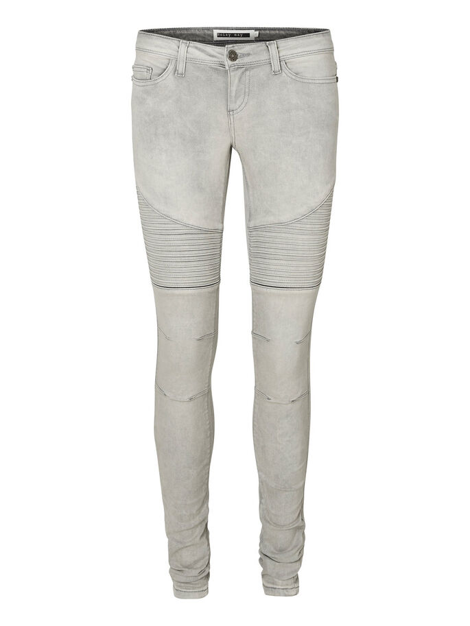 EVE LW BIKER SKINNY FIT JEANS, Light Grey Denim, large