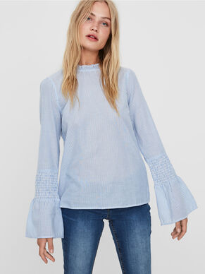 FRILL LONG SLEEVED BLOUSE