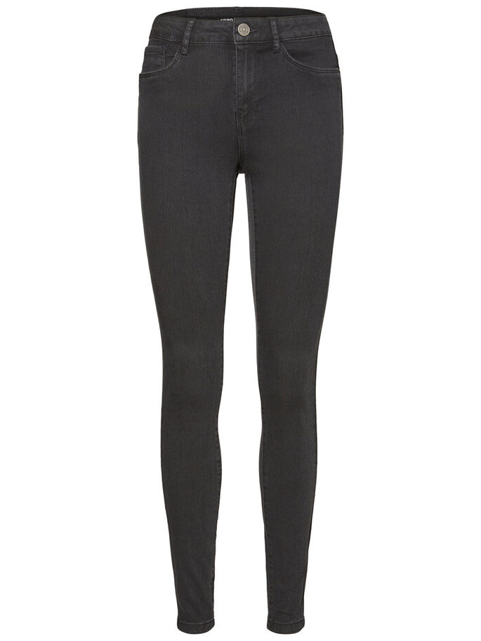 SEVEN NW SKINNY FIT JEANS, Dark Grey Denim, large