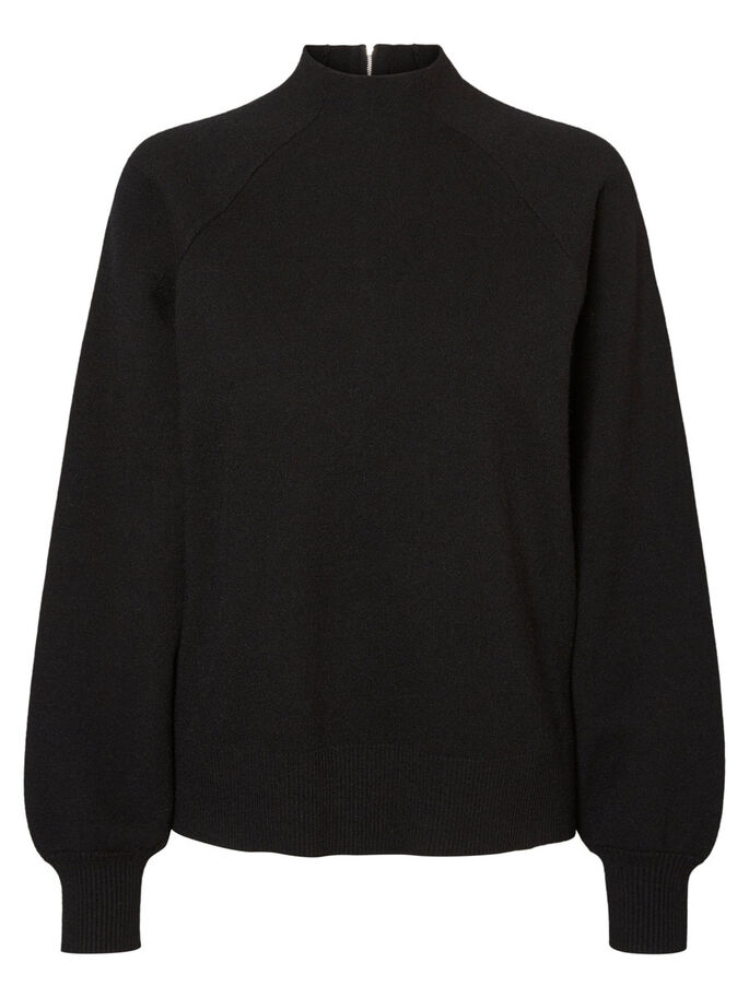 CASUAL PULL EN MAILLE, Black Beauty, large