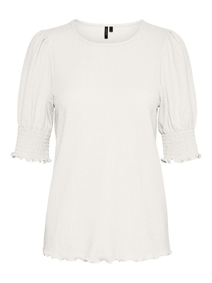 PUFF SLEEVED TOP, Snow White, large