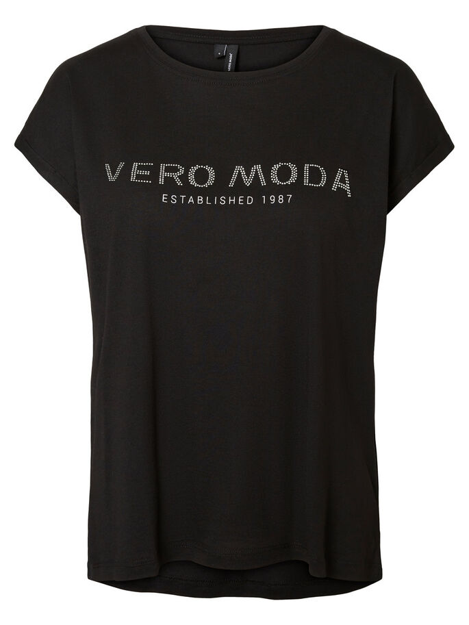 VERO MODA T-SHIRT, Black, large