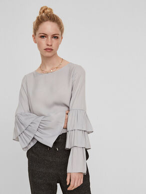 FRILLED SLEEVED BLOUSE