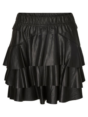 NW LEATHER-LOOK SKIRT