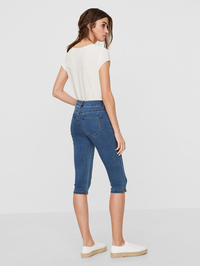 LUCY NW CAPRIHOSE, Medium Blue Denim, large