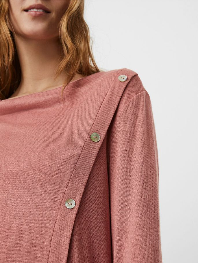 BUTTON BLOUSE, Old Rose, large