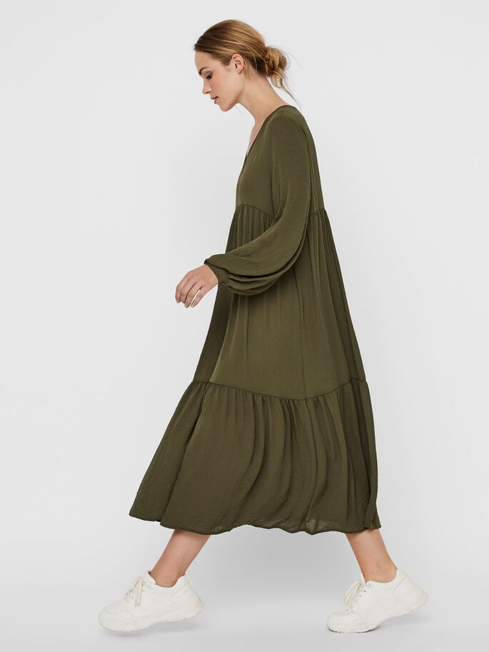 COUPE AMPLE ROBE MI-LONGUE, Ivy Green, large
