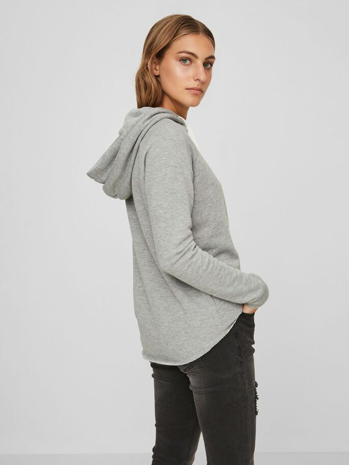 CASUAL SWEATSHIRT, Medium Grey Melange, large
