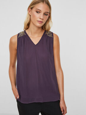 PEARLY SLEEVELESS TOP