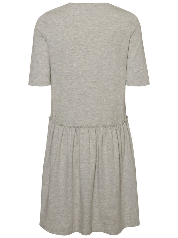 CASUAL ROBE À MANCHES LONGUES, Light Grey Melange, large