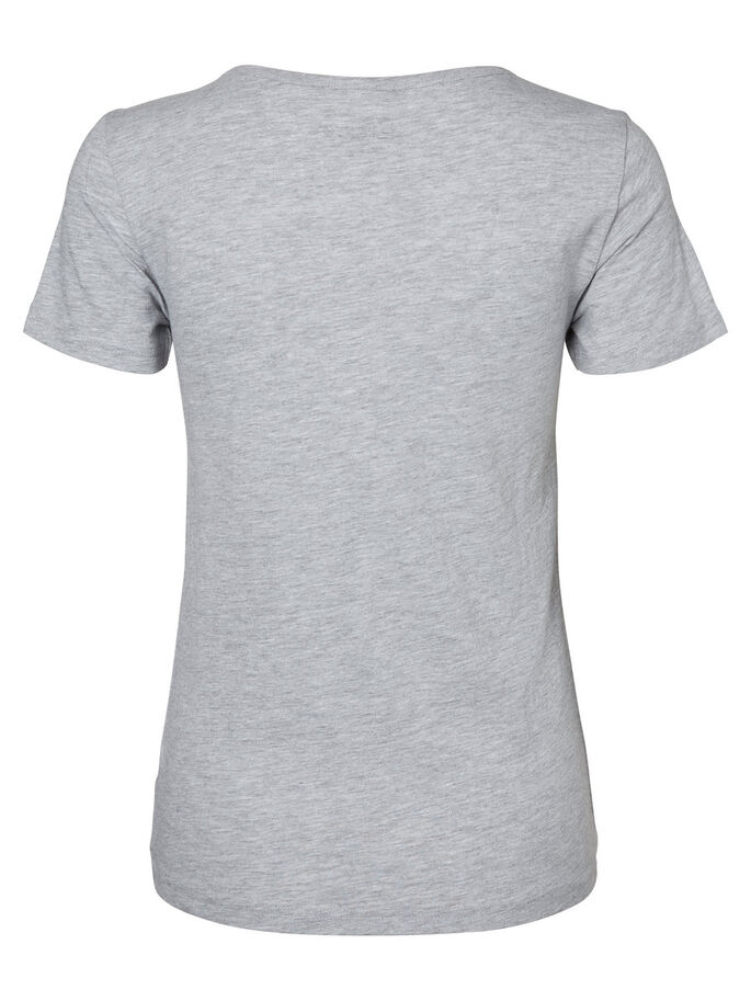 BEDRUKT T-SHIRT, Light Grey Melange, large