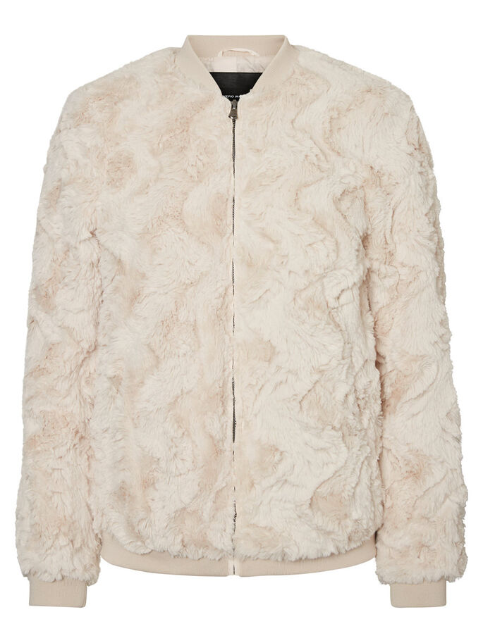 BOMBER JACKET, Oatmeal, large