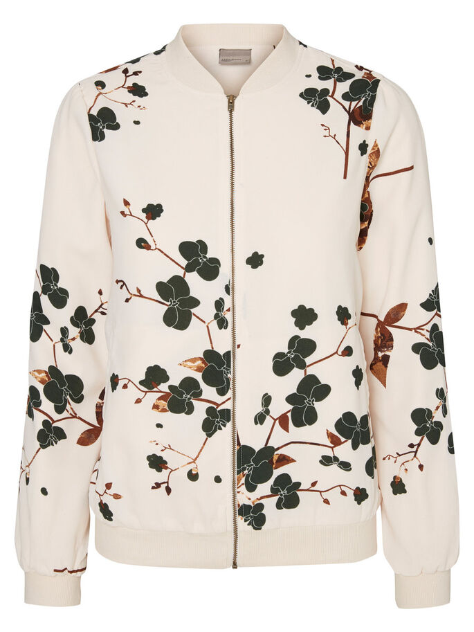 FLOWER PRINTED BOMBER JACKET, Pristine, large