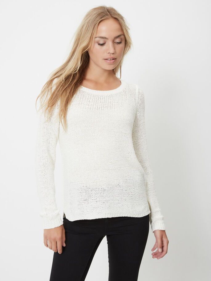 KNITTED PULLOVER, Snow White, large