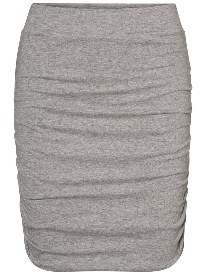 KORTE NW ROK, Light Grey Melange, large
