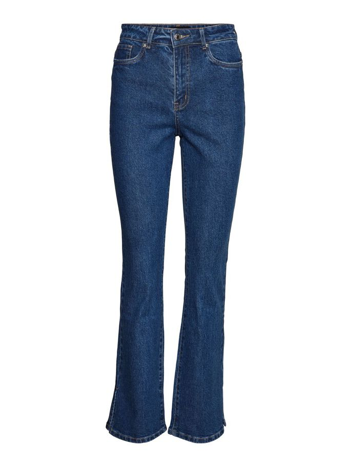 VMSELMA HIGH WAIST FLARED JEANS, Medium Blue Denim, large