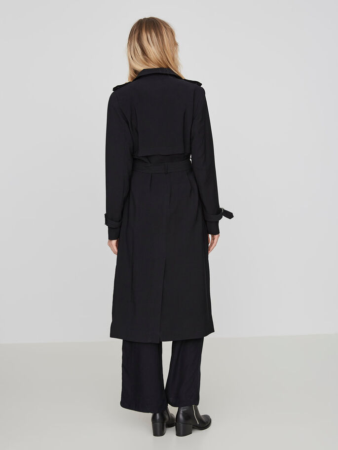 LONG TRENCHCOAT, Black Beauty, large