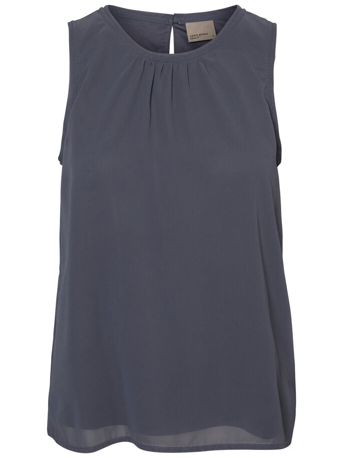 CASUAL SLEEVELESS TOP, Ombre Blue, large