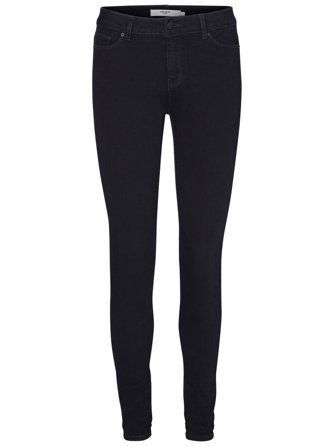 SEVEN NW SUPER SKINNY FIT JEANS, Dark Blue Denim, large