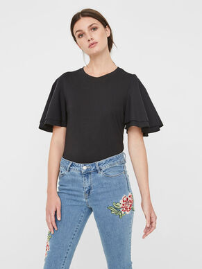 FRILLS SHORT SLEEVED TOP