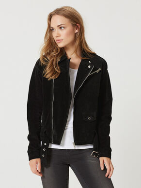 LONG SLEEVED LEATHER JACKET