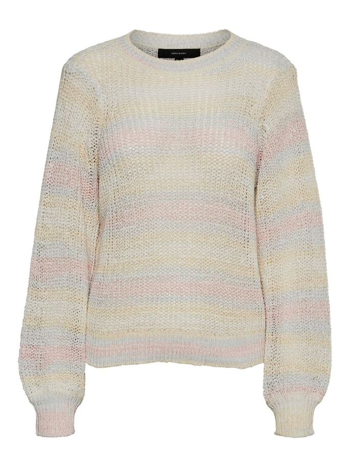 LONG SLEEVED KNITTED PULLOVER, Birch, large