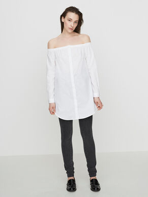 OFF-SHOULDER LONG SLEEVED SHIRT