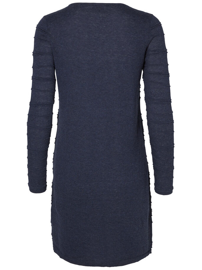 LONG SLEEVED DRESS, Navy Blazer, large