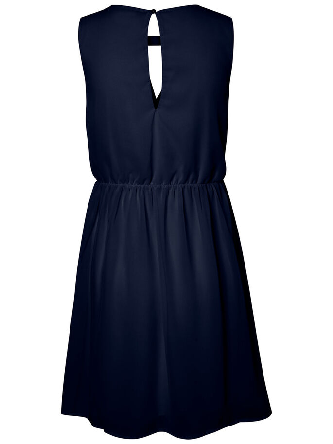 DETAILED SLEEVELESS DRESS, Navy Blazer, large