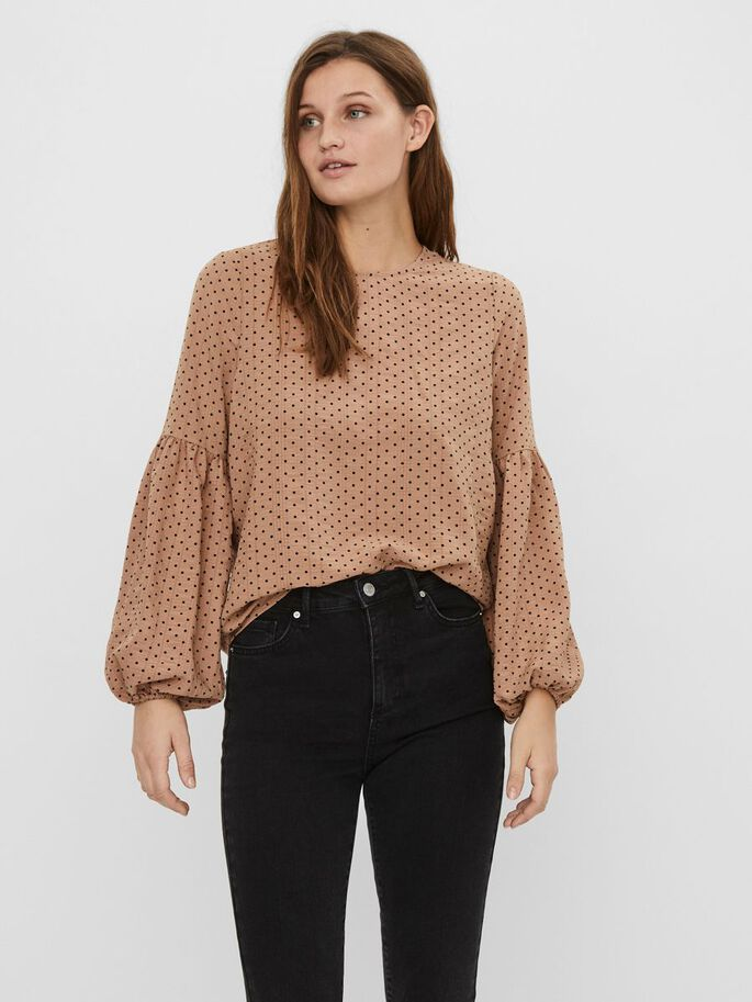 PRINTED LONG SLEEVED BLOUSE, Nomad, large