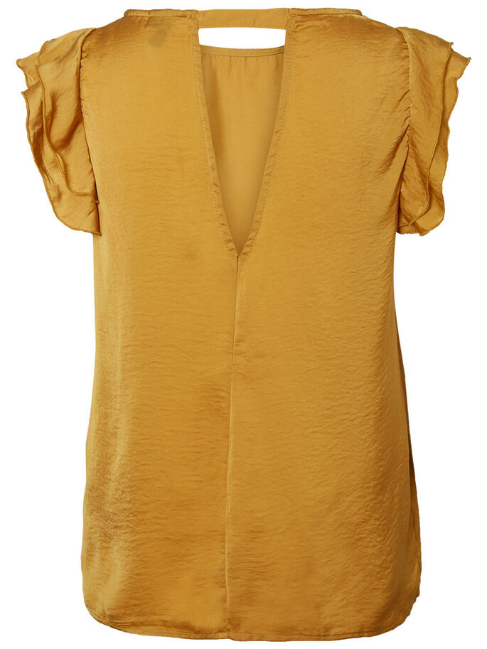 FÉMININ TOP SANS MANCHES, Harvest Gold, large
