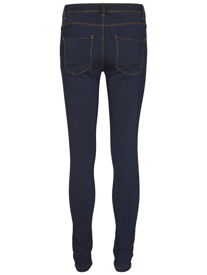 STRETCHY JEGGINGS, Dark Blue Denim, large