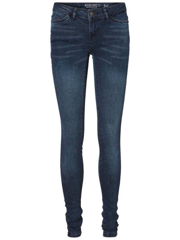 EVE LW SKINNY FIT JEANS, Dark Blue Denim, large