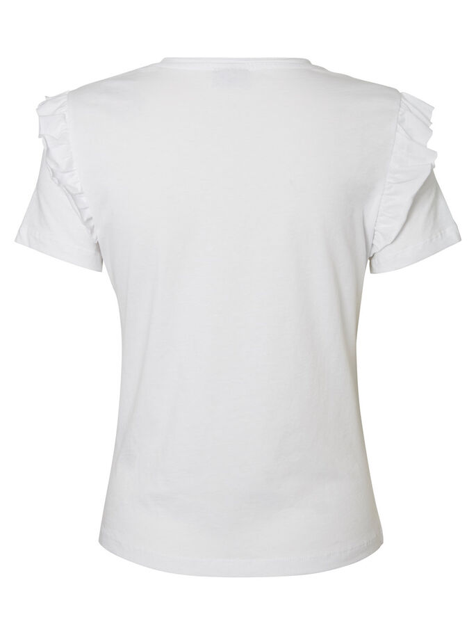 FRILL T-SHIRT, Bright White, large