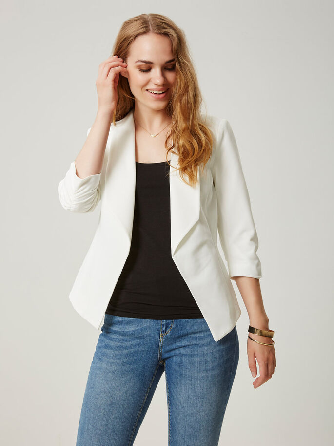 3/4 MOUW BLAZER, Snow White, large