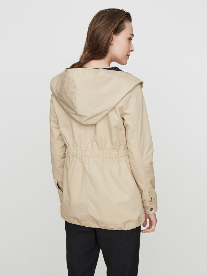 ÜBERGANGS- PARKA, Stocking Beige, large