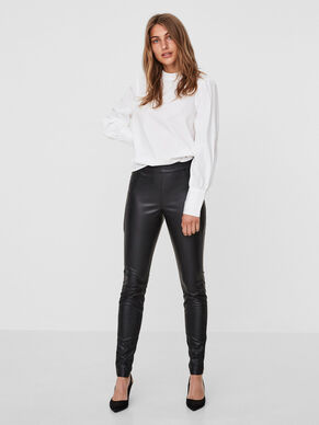 NW LEATHER-LOOK LEGGINGS
