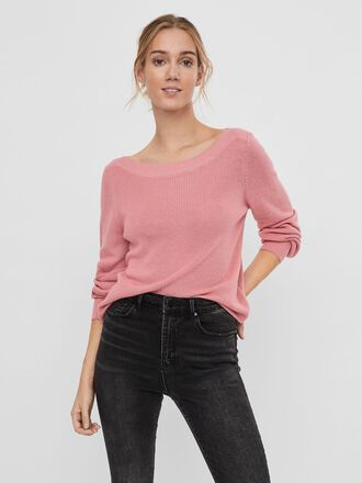 BOATNECK KNITTED PULLOVER