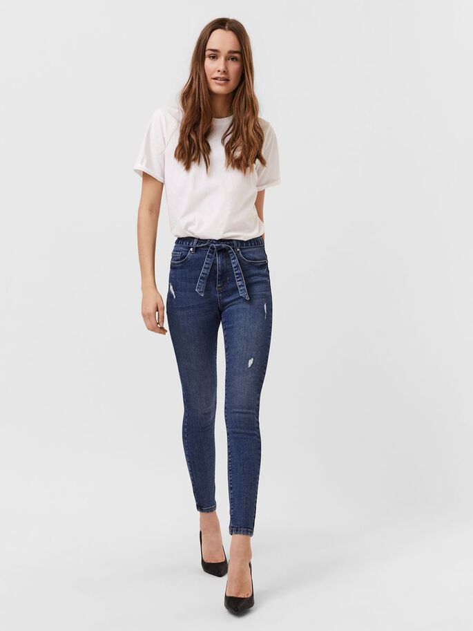 VMSOPHIA SKINNY FIT JEANS, Medium Blue Denim, large