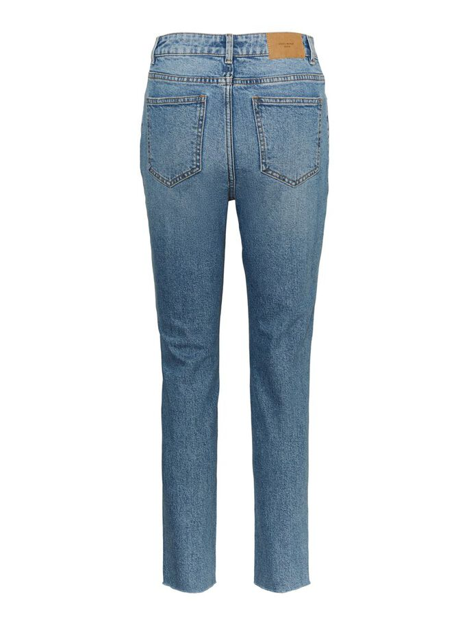 VMBRENDA HIGH WAISTED STRAIGHT FIT JEANS, Light Blue Denim, large
