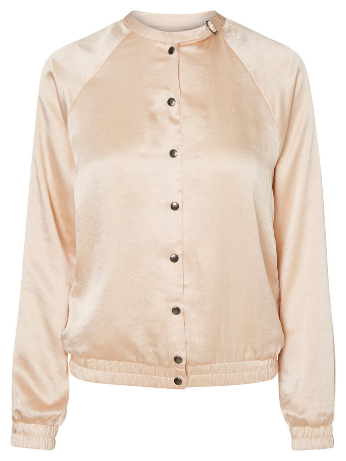 BOMBER JACKET, Cream Tan, large