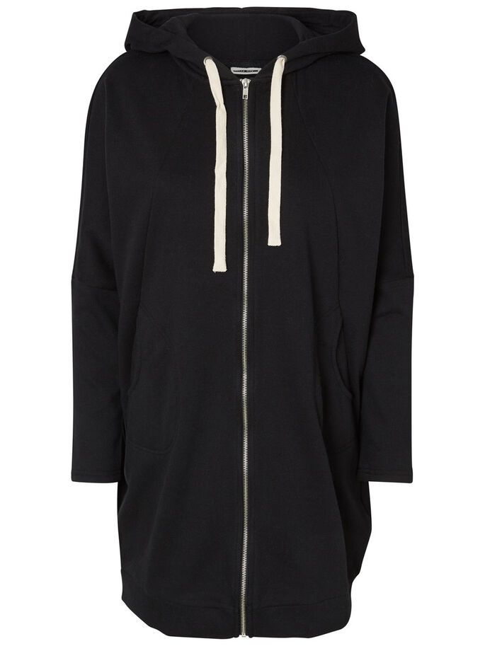 LONG SWEATSHIRT, Black, large
