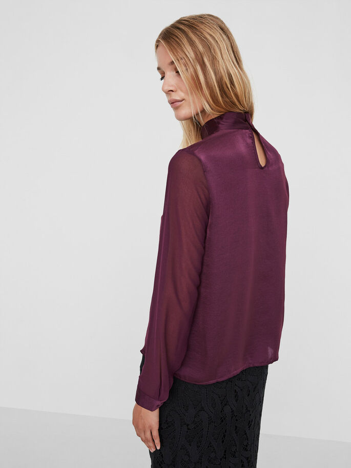 MESH LONG SLEEVED TOP, Potent Purple, large