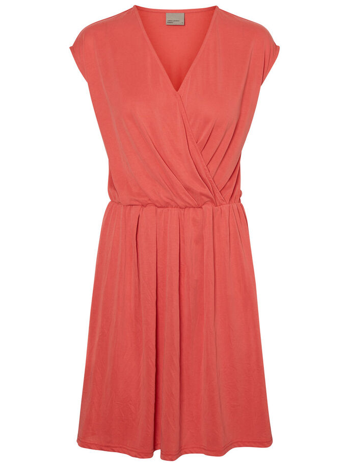 CASUAL SLEEVELESS DRESS, Hibiscus, large