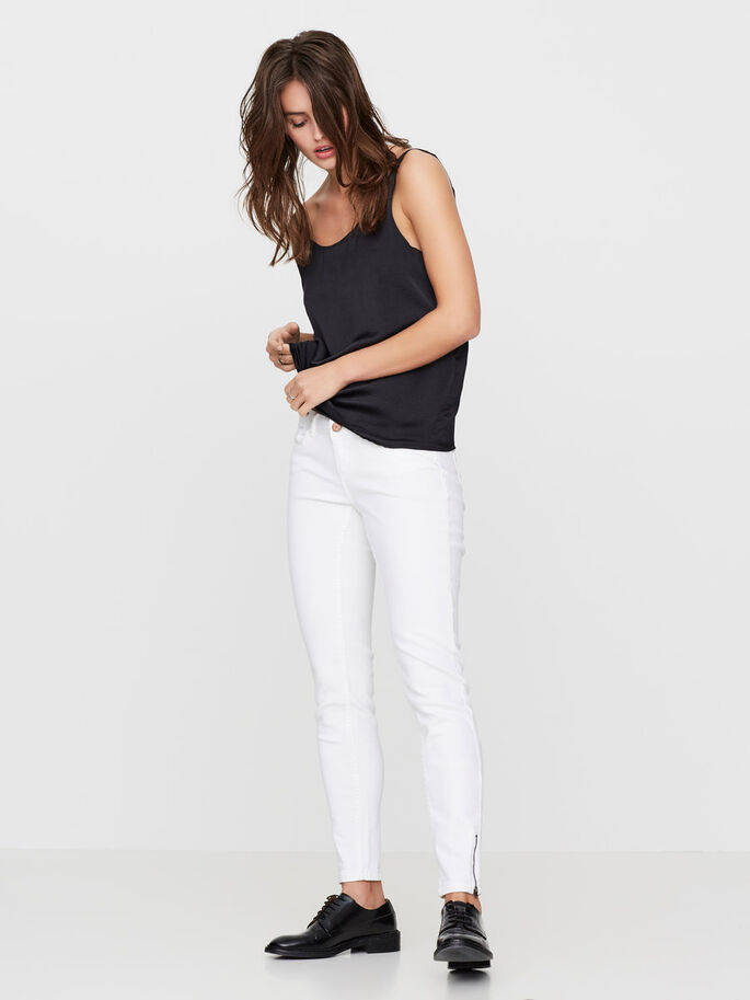 EVE LW ANKLE SKINNY JEANS, Bright White, large